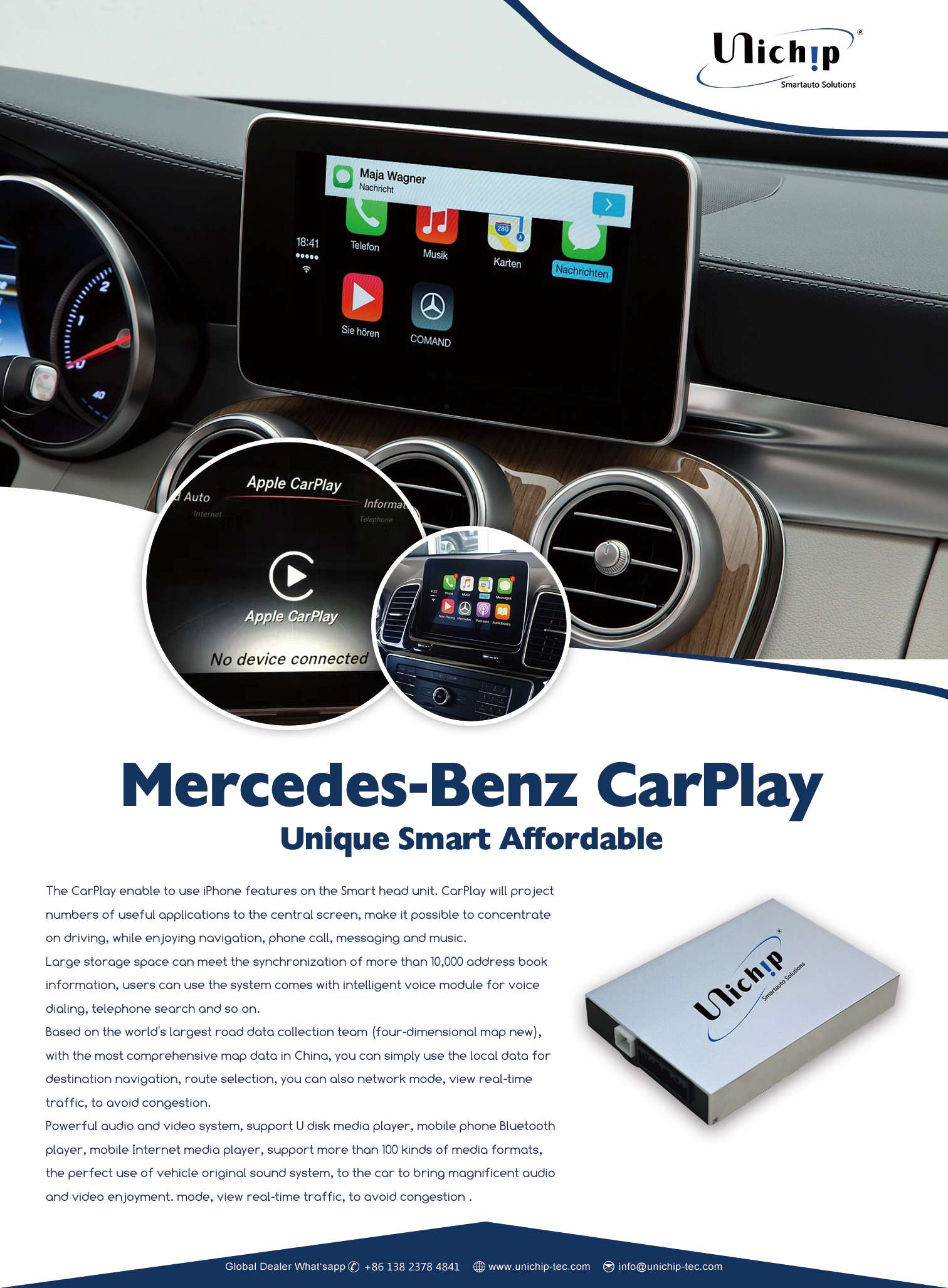 CarPlay for Mercedes C GLC NTG5.2