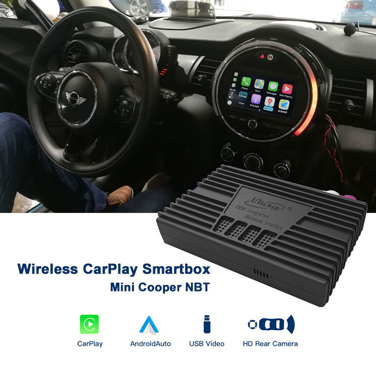 Unichip Mini Cooper Apple Carplay Wireless with NBT Head Unit 2014-2018 F55 F56