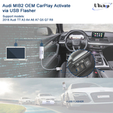 Audi MIB2 MIBII OEM CarPlay for A3 A6 Q5 Q7 A7 etc Activation via USB